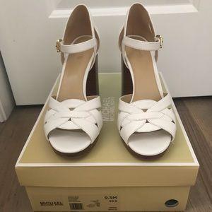 Michael Kors annaliese platform sandal white 9.5